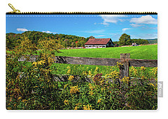 Carry-all Pouch featuring the photograph Fall Farm by Rebecca Hiatt