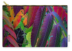 Carry-all Pouch featuring the photograph Fall Feathers by Kendall McKernon