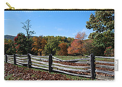 Carry-all Pouch featuring the photograph Fall Fence by Eric Liller
