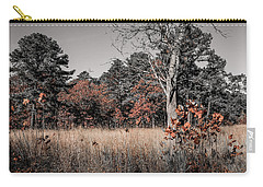 Carry-all Pouch featuring the photograph Fall Field Fun by Glenn DiPaola