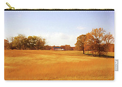 Fall Field - Rural Landscape Carry-all Pouch by Barry Jones