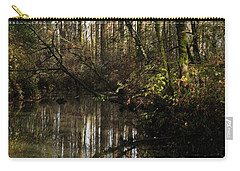 Carry-all Pouch featuring the photograph Fall Finale by I'ina Van Lawick