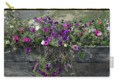 Carry-all Pouch featuring the photograph Fall Flower Box by Joanne Coyle