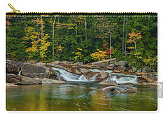 Fall Foliage In Autumn Along Swift River In New Hampshire Carry-all Pouch by Ranjay Mitra
