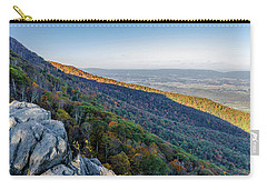 Carry-all Pouch featuring the photograph Fall Foliage In The Blue Ridge Mountains by Lori Coleman