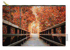 Carry-all Pouch featuring the photograph Fall Foliage In The Heart Of Berlin by Ivy Ho