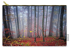 Carry-all Pouch featuring the photograph Fall Forest In Fog by Elena Elisseeva