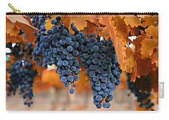 Fall Grapes Fall Colors Carry-all Pouch by Lynn Hopwood