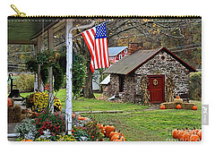 Carry-all Pouch featuring the photograph Fall Harvest - Rural America by DJ Florek