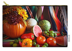 Carry-all Pouch featuring the painting Fall Harvest Still Life by Marilyn Smith