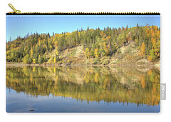 Carry-all Pouch featuring the photograph Fall Hues On The North Saskatchewan River by Jim Sauchyn