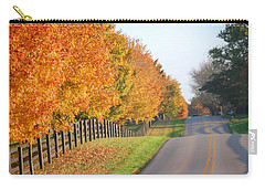 Carry-all Pouch featuring the photograph Fall In Horse Farm Country by Sumoflam Photography