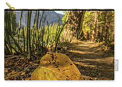 Fall In Leaf Carry-all Pouch by Peter Tellone