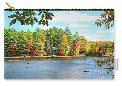 Fall In New England Carry-all Pouch by Adrian LaRoque