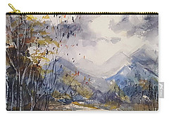 Carry-all Pouch featuring the painting Fall In The Mountains by Reed Novotny