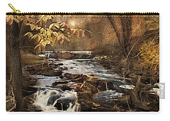 Carry-all Pouch featuring the photograph Fall In The Woodland by Robin-lee Vieira