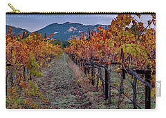 Carry-all Pouch featuring the pastel Fall In Wine Country by Bill Gallagher