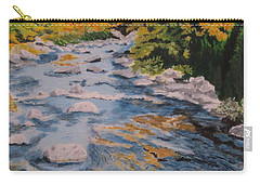 Carry-all Pouch featuring the painting Fall Is Coming by Hilda and Jose Garrancho