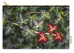 Carry-all Pouch featuring the photograph Fall Ivy Leaves by Adam Romanowicz