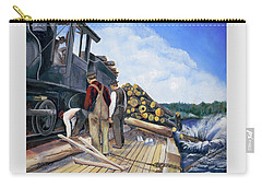 Fall Lake Train Carry-all Pouch