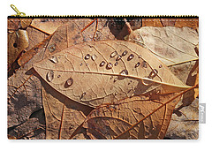 Fall Leaves And Dew 15 2017 Carry-all Pouch