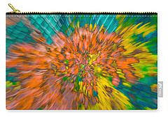 Fall Leaves Zoom Abstract Carry-all Pouch