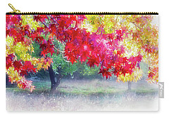 Carry-all Pouch featuring the photograph Fall Light by Adria Trail