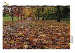 Fall Maple Leaves On Walking Path Carry-all Pouch