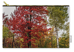 Carry-all Pouch featuring the photograph Fall Maple by Paul Freidlund