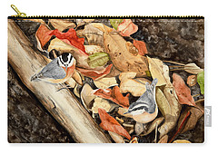 Fall Nuthatch Pair Carry-all Pouch