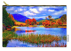 Carry-all Pouch featuring the photograph Fall On Long Pond Acadia National Park Maine  by Tom Jelen