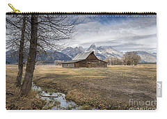 Carry-all Pouch featuring the photograph Fall On Mormon Row - Grand Teton National Park by Sandra Bronstein