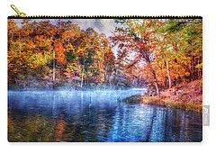 Carry-all Pouch featuring the photograph Fall On The Lake by Debra and Dave Vanderlaan