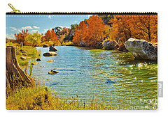 Fall On The Medina River Carry-all Pouch