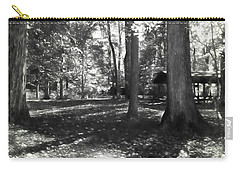 Fall Picnic Bw Painted Carry-all Pouch