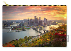 Carry-all Pouch featuring the photograph Fall Pittsburgh Skyline  by Emmanuel Panagiotakis
