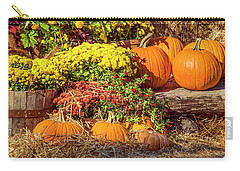 Carry-all Pouch featuring the photograph Fall Pumpkins by Carolyn Marshall