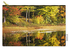 Carry-all Pouch featuring the photograph Fall Reflection by Chad Dutson