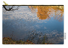 Fall Reflection In Blue Carry-all Pouch
