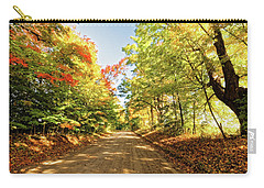 Carry-all Pouch featuring the photograph Fall Roads by Lars Lentz
