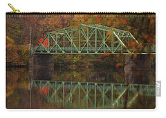 Fall Rocks Village Bridge Carry-all Pouch