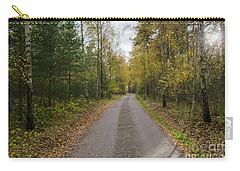 Carry-all Pouch featuring the photograph Fall Season Adventure by Kennerth and Birgitta Kullman