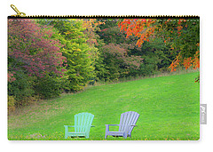 Carry-all Pouch featuring the photograph Fall Seating by Alan L Graham