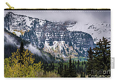 Carry-all Pouch featuring the photograph Fall Storm In Wasatch Mountains - Utah by Gary Whitton