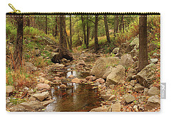 Fall Stream And Rocks Carry-all Pouch by Roena King