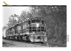 Fall Train In Black And White Carry-all Pouch