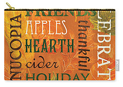 Fall Typography 2 Carry-all Pouch