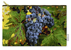 Carry-all Pouch featuring the photograph Fall Wine Grapes by Lynn Hopwood