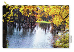 Fall Yellow Boarder Carry-all Pouch