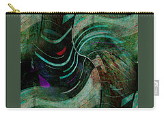 Carry-all Pouch featuring the digital art Fallen Angle by Sheila Mcdonald